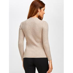Fit Ribbed Pullover Sweater -