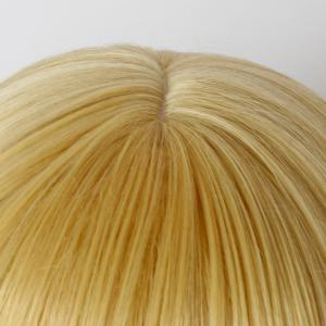 Vogue Medium Golden Synthetic Straight Layered Full Bang Wig For Women -