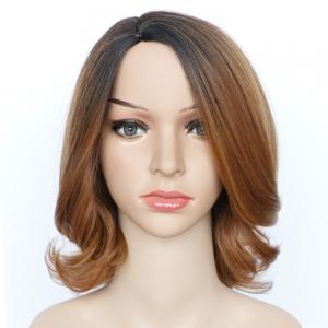 Graceful Medium Fluffy Mixed Color Wavy Side Parting Women's Synthetic Hair Wig - COLORMIX