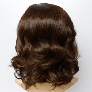 Fluffy Wave Capless Stunning Dark Brown Short Synthetic Wig For Women -