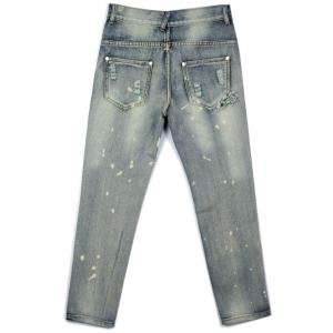 Ripped  Tie Dye Distressed Jeans -