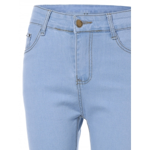 High Waist Light Wash Jeans -