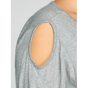 Cut Out Plus Size Tee -