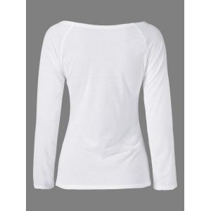 Plus Size Two Tone Slim Fit Tee -