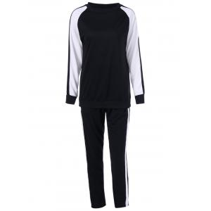 Two Tone Tee With Pants Sport Suit