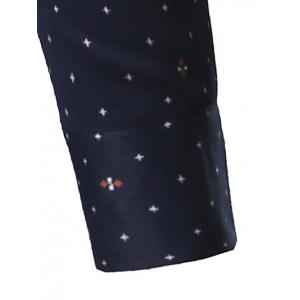 Turndown Collar Thicken Stars Print Shirt -
