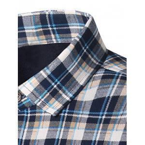 Turndown Collar Thicken Tartan Print Shirt -