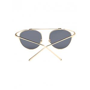 Travel Hollow Out Angle Oval Sunglasses - BLACK
