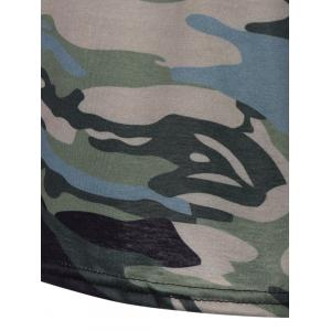 Army Camouflage Pattern Panel Long Sleeve T-Shirt - CAMOUFLAGE COLOR M