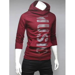 Pocket Front Graphic Pullover Hoodie - RED XL