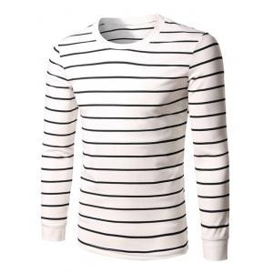 Long Sleeve Crew Neck Striped T-Shirt