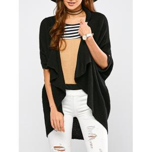 Knitted Draped Front Cardigan
