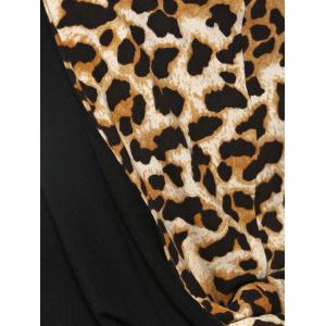 Leopard Trim Hooded Tee -