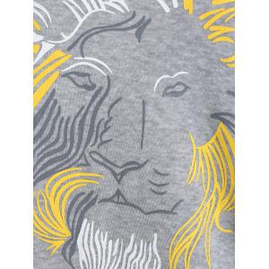 Lion Graphic Zipper Design Sweatshirt -