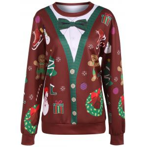 Christmas Ornate Print Sweatshirt