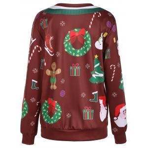 Christmas Ornate Print Sweatshirt -