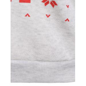 Pullover Christmas Print Sweatshirt - LIGHT GRAY L