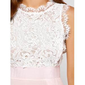 Maxi Lace Panel A Line Prom Formal Dress -