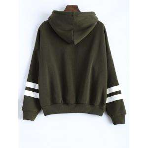 Long Sleeve Striped Oversized Hoodie - HAMPTON GREEN ONE SIZE