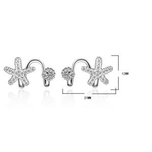 Concise Clip Earrings Without Piercing - SILVER