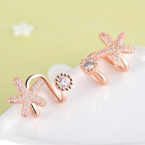 Concise Clip Earrings Without Piercing - GOLDEN
