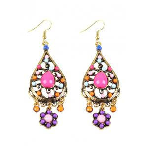 Bohemian Beads Flower Chandelier Earrings