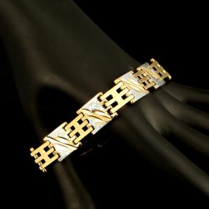 Vintage Alloy Chain Bracelet - GOLDEN
