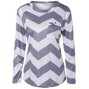 Front Pocket Zigzag T-Shirt