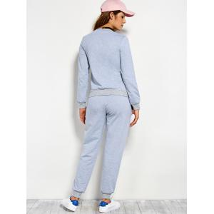 Pompons Pullover Sweatshirt and Running Jogger Pants -
