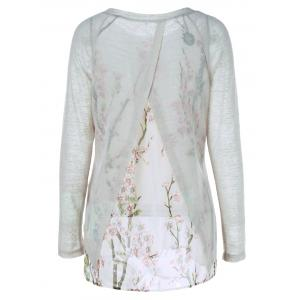 Back Slit Floral T-Shirt -
