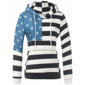 Star Striped Fleece Hoodie