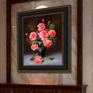 DIY Beads Painting Red Roses Cross Stitch - RED