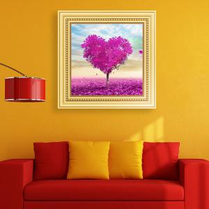 DIY Beads Painting Love Tree Cross Stitch - LIGHT PURPLE