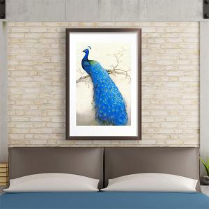 DIY Beads Painting Blue Peacock Right Cross Stitch -