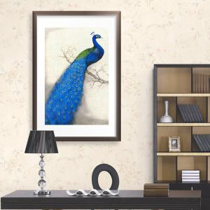 DIY Beads Painting Blue Peacock Left Cross Stitch -