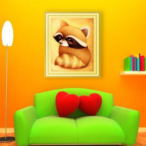 DIY Beads Painting Cartoon Raccoon Animal Cross Stitch -