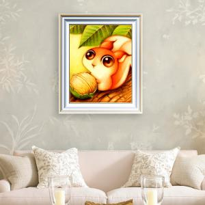 DIY Beads Painting Cartoon Squirrel Animal Cross Stitch - Mandarin