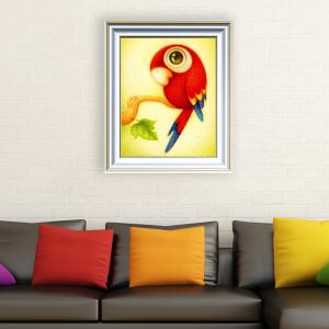 DIY Beads Painting Cartoon Parrot Animal Cross Stitch - Red