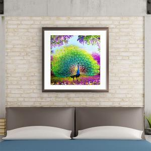 DIY Beads Painting Tail Peacock Cross Stitch - COLORMIX