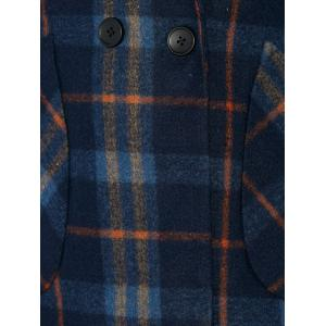 High Low Checked Wool Coat -