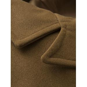 Single Breasted Pocket Epaulet Design Woolen Coat -