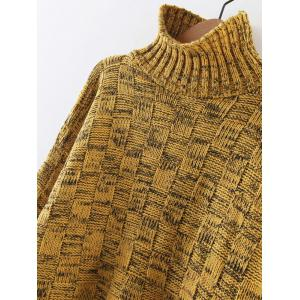 Turtleneck Long Sleeve Cable Knit Sweater -