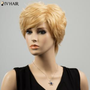 Siv Short Layered Straight Side Bang Human Hair Wig -