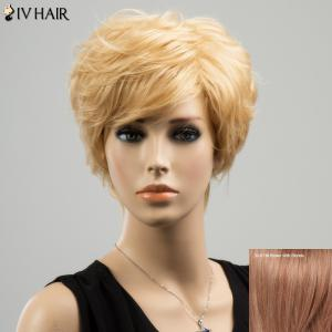 Siv Short Layered Straight Side Bang Human Hair Wig