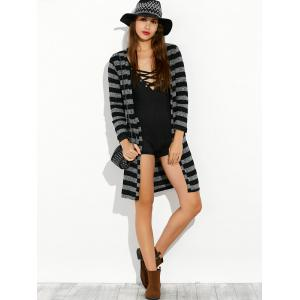 Stripe Long Cardigan -