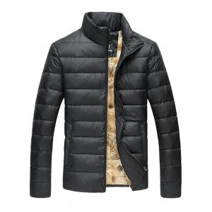 Funnel Neck Zip Up Quilted Jacket
