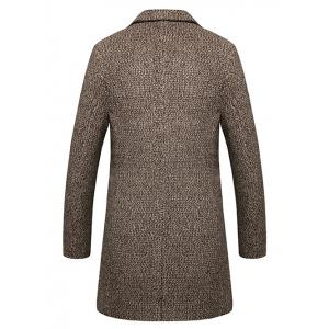 Lapel Single Breasted Wool Blend Tweed Overcoat -