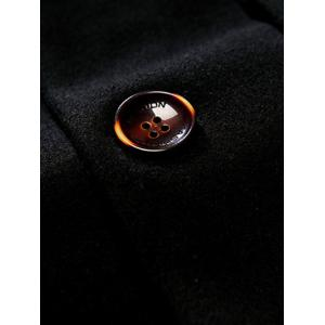 Lapel Single Breasted Wool Blend Overcoat -
