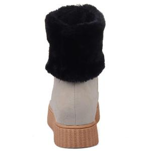 Metal Increased Internal Faux Fur Snow Boots -