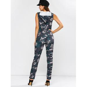 Hoodie Camouflage Pattern Zip Up Jumpsuit - CAMOUFLAGE COLOR XL